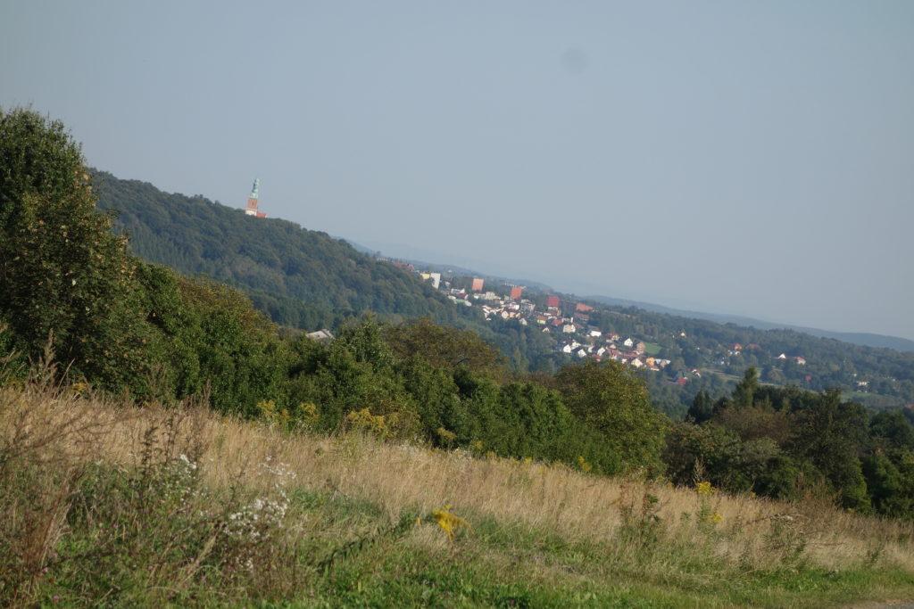Widok z Kamionki na Alwernię