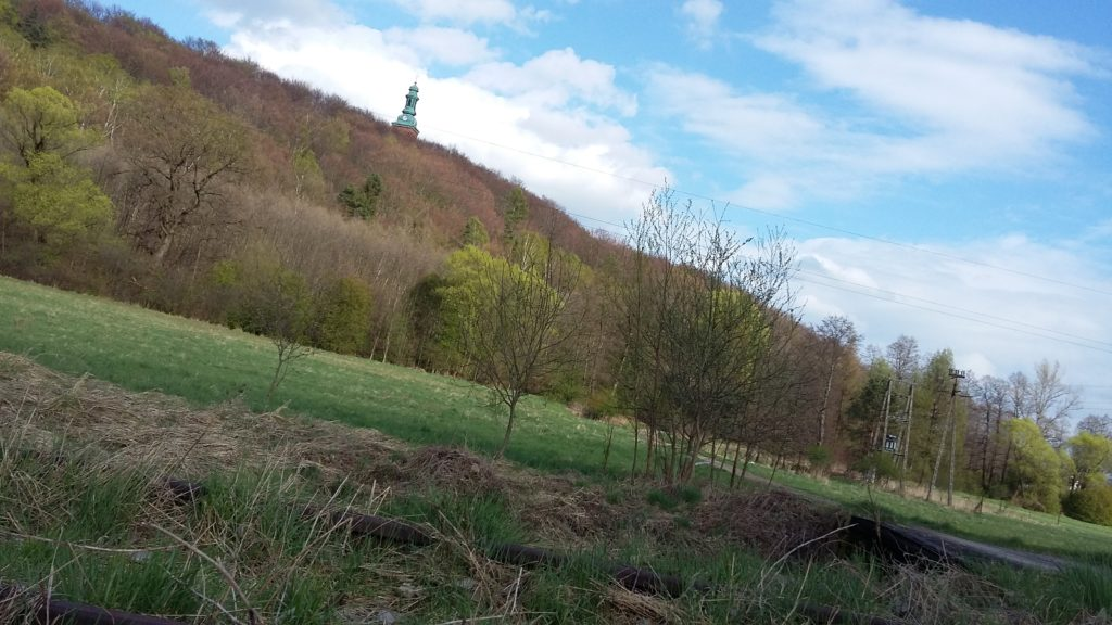 Widok na Klasztor OO. Bernardynów w Alwerni